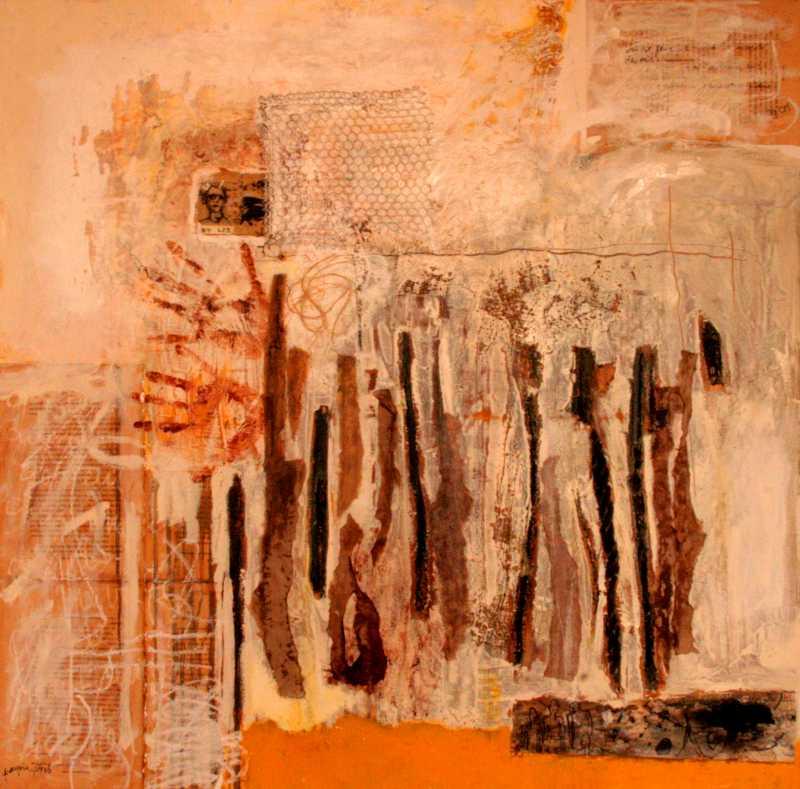 BT 423, 100x100, 2012, Huile sur toile, Françoise Pirró, photo Anne Reusser