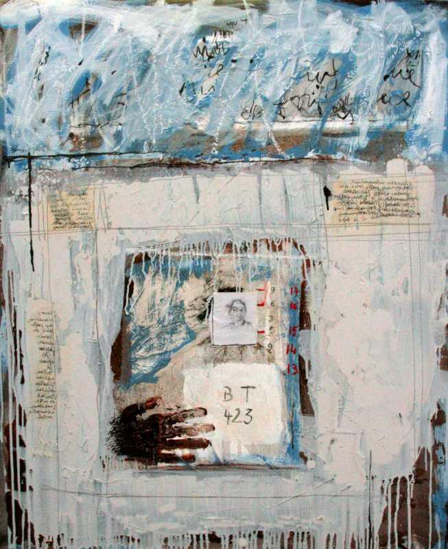 BT 423, 92x73, 2009, Huile sur toile, Françoise Pirró, photo Anne Reusser
