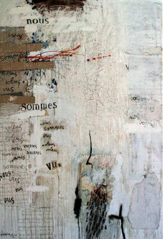 Bon gré, mal gré, nous sommes vus, 146x114, 2008, Huile sur toile, Françoise Pirró, photo Anne Reusser