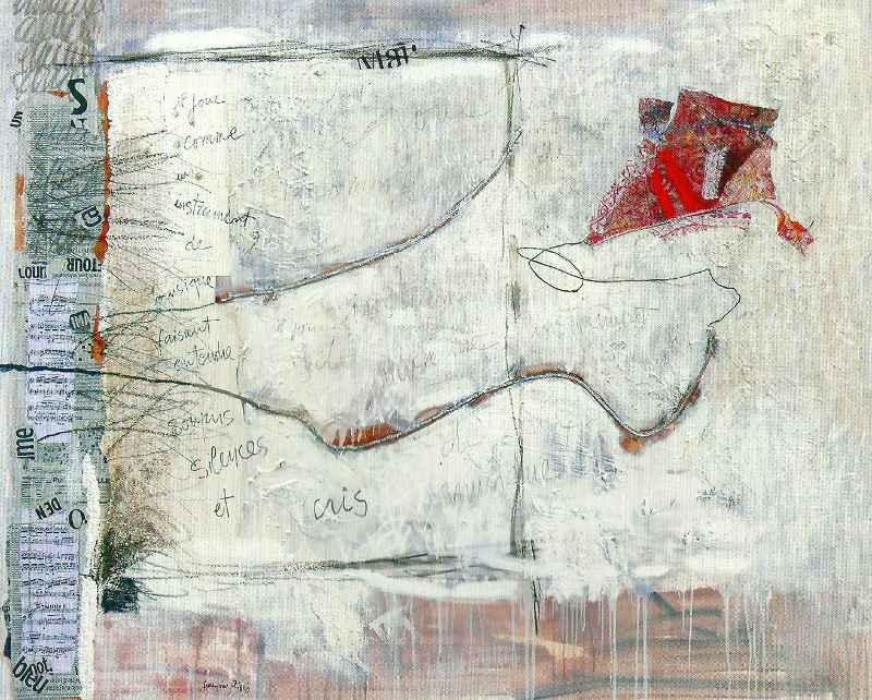 Cerf-volant, 162x130, 2007, Huile sur toile, Françoise Pirró