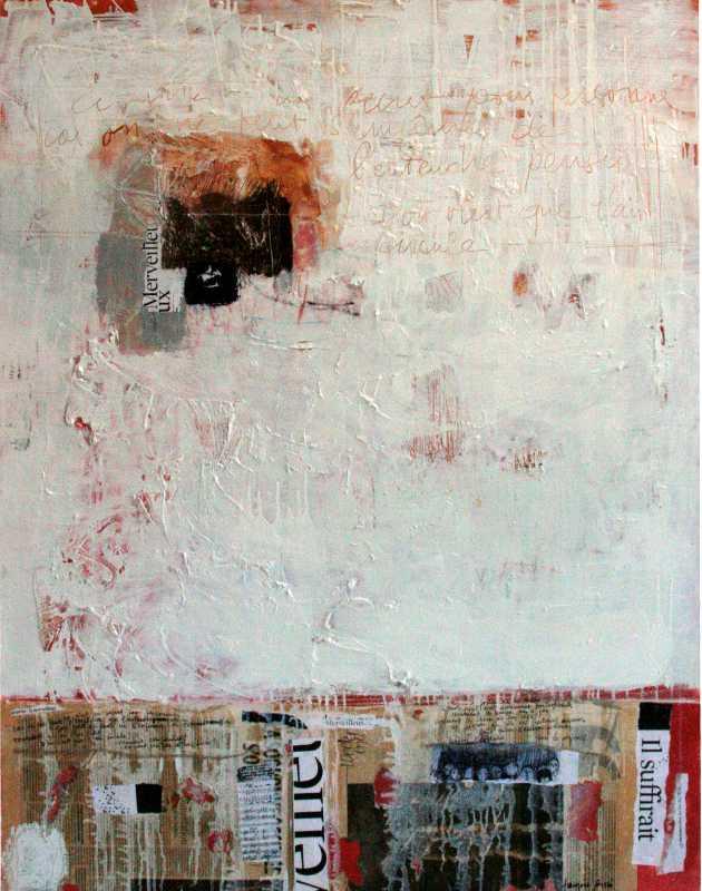 D'où vient que l'air circule, 116x89, 2007, Huile sur toile, Françoise Pirró, photo Anne Reusser