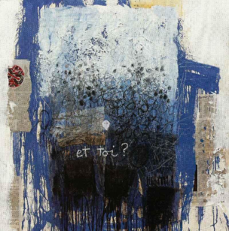 Et toi ?, 100x100, 2007, Huile sur toile, Françoise Pirró