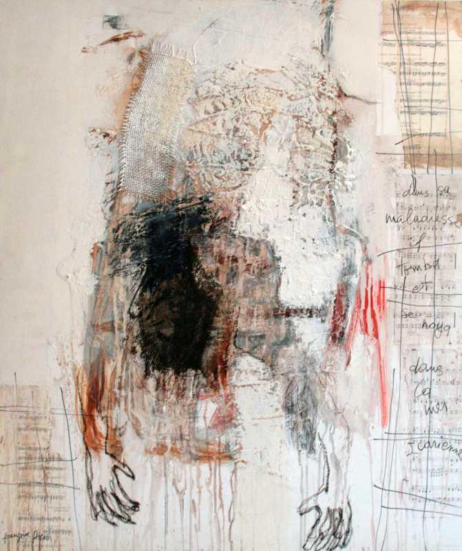 La chute, 100x81, 2008, Huile sur toile, Françoise Pirró, photo Anne Reusser