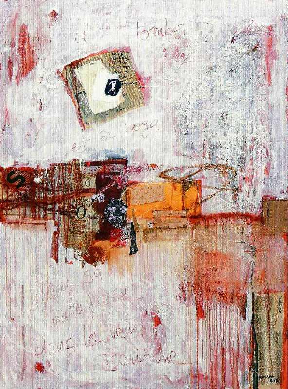 La chute, 130x97, 2007, Huile sur toile, Françoise Pirró