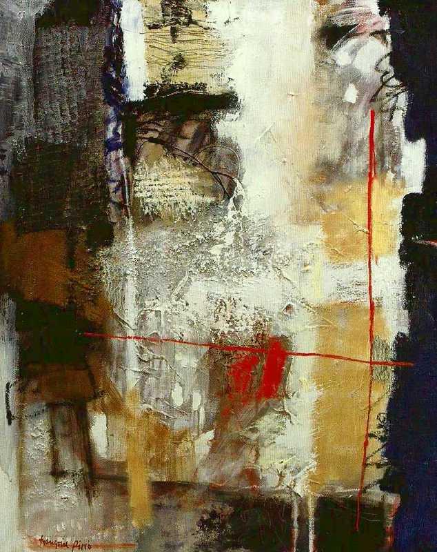 Le banc n°1, 81x65, 2015, Huile sur toile, Françoise Pirró
