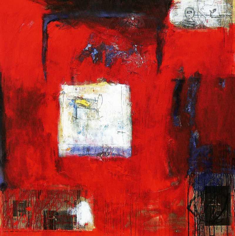 Le petit cheval de l'enfant, 100x100, 2006, Huile sur toile, Françoise Pirró