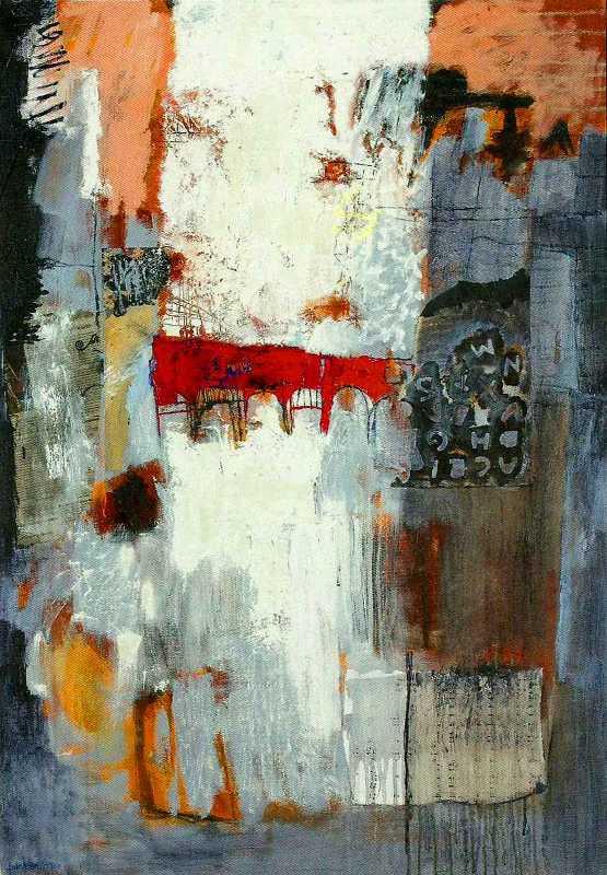 Le pont, huile sur toile, 81x116, 2012, Huile sur toile, Françoise Pirró