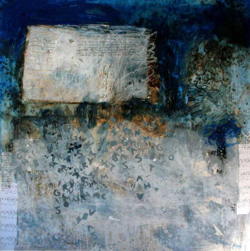 L'enfant et les lettres, Huile sur toile, Françoise Pirró, photo Anne Reusser