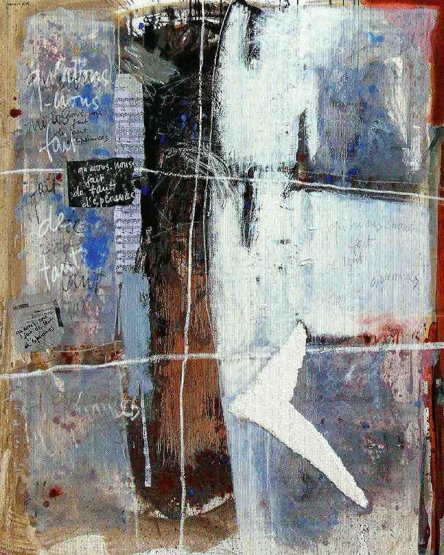 Les espaces qui restent, 130x97, 2007, Huile sur toile, Françoise Pirró