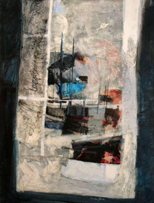 Les pères spirituels, 130x97, 1987, Huile sur toile, Françoise Pirró, photo Anne Reusser