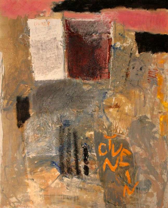 Livre 2, 100x81, 2004, Huile sur toile, Françoise Pirró, photo Anne Reusser