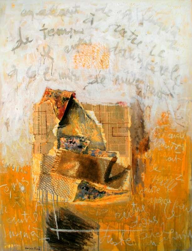Les oiseaux dans l'atelier, 146x114, 2008, Huile sur toile, Françoise Pirró