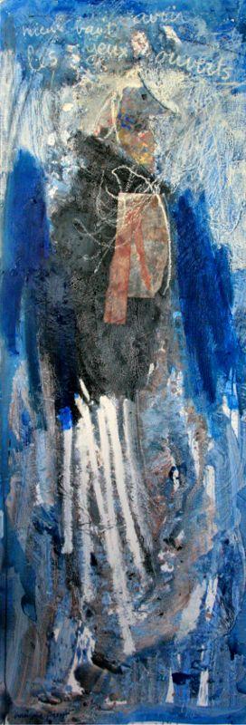L'oiseau de l'enfant (5), 180x60, 2008, Huile sur toile, Françoise Pirró, photo Anne Reusser