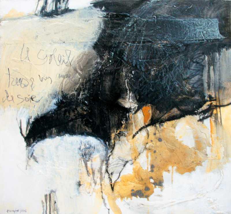 Milan noir, 60x60, 2008, Huile sur toile, Françoise Pirró, photo Anne Reusser