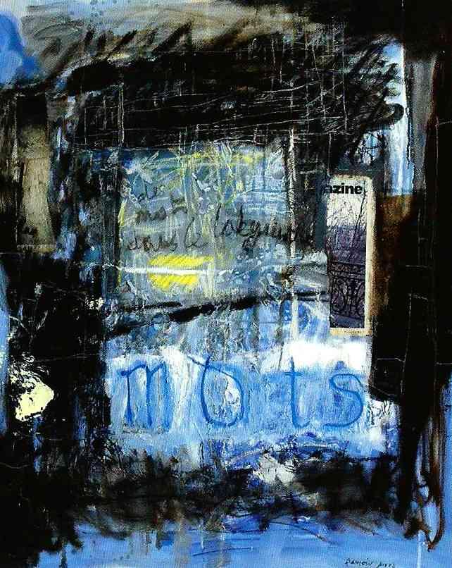 Mots, 100x81, 2015, Huile sur toile, Françoise Pirró