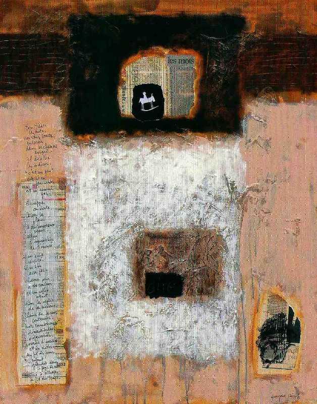 Mots, 92x73, 2007, Huile sur toile, Françoise Pirró