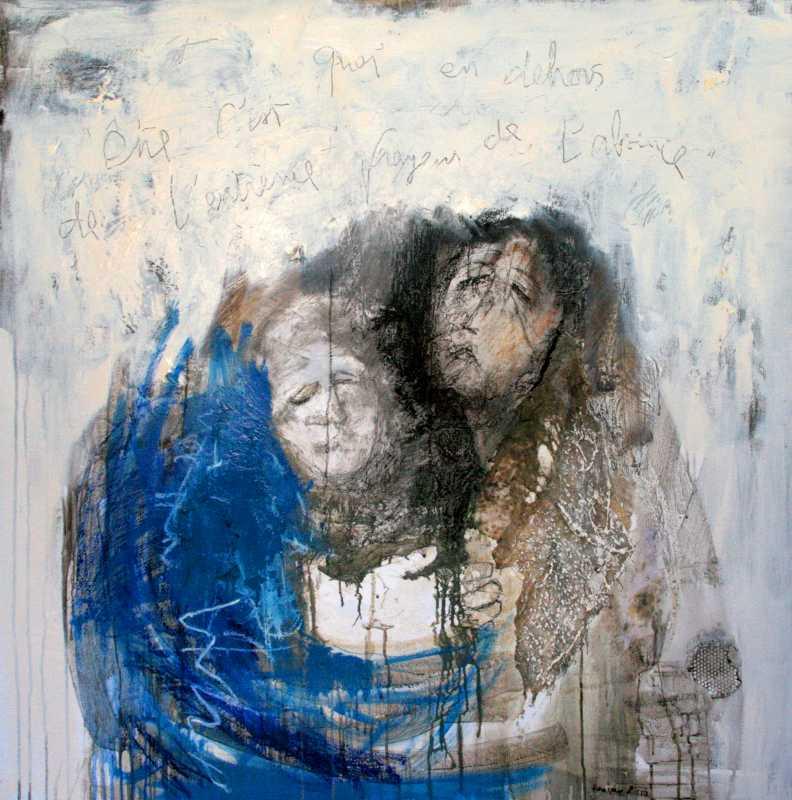 Pietá 3, 110x110, 2010, Huile sur toile, Françoise Pirró, photo Anne Reusser