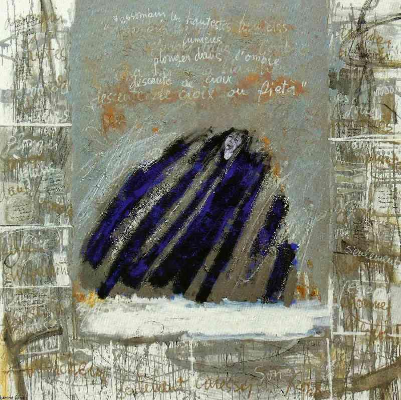 Pietá, 150x150, 2007, Huile sur toile, Françoise Pirró