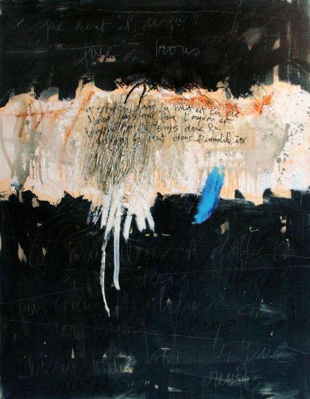 Que vient-il risquer face à nous, 116x89, 2009, Huile sur toile, Françoise Pirró, photo Anne Reusser