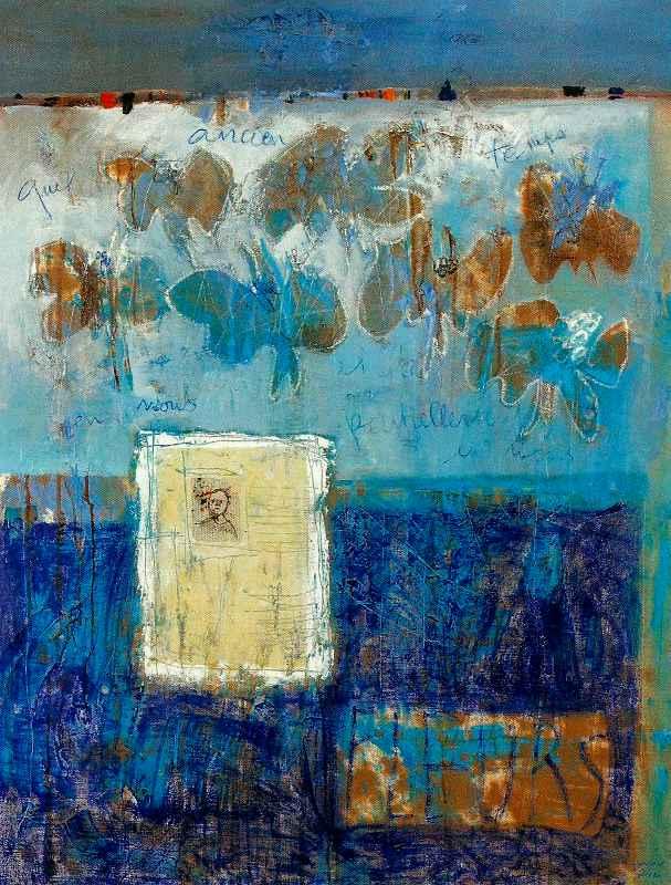 Quel ancien temps il fait, partiellement, en nous, 116x89, Huile sur toile, 2012, Françoise Pirró