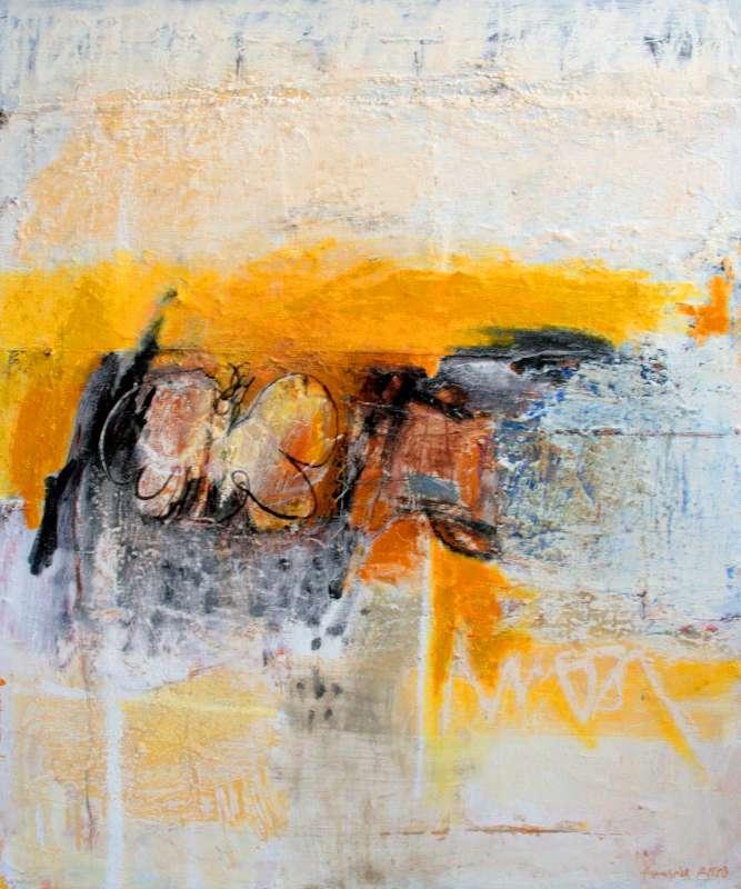 Vers le jaune ?, 81x65, 2011, Huile sur toile, Françoise Pirró, photo Anne Reusser